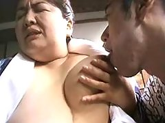 Mature asian busty BBW seduces guy