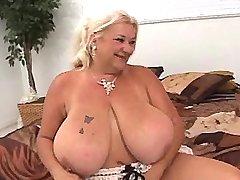 Chubby granny gets crazy titsfuck