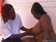 Plumper subrina luv swallows a huge cock