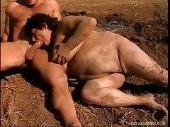 Farmer fucks mud covered chubby