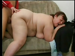 Huge bbw sally rides a big younger cock